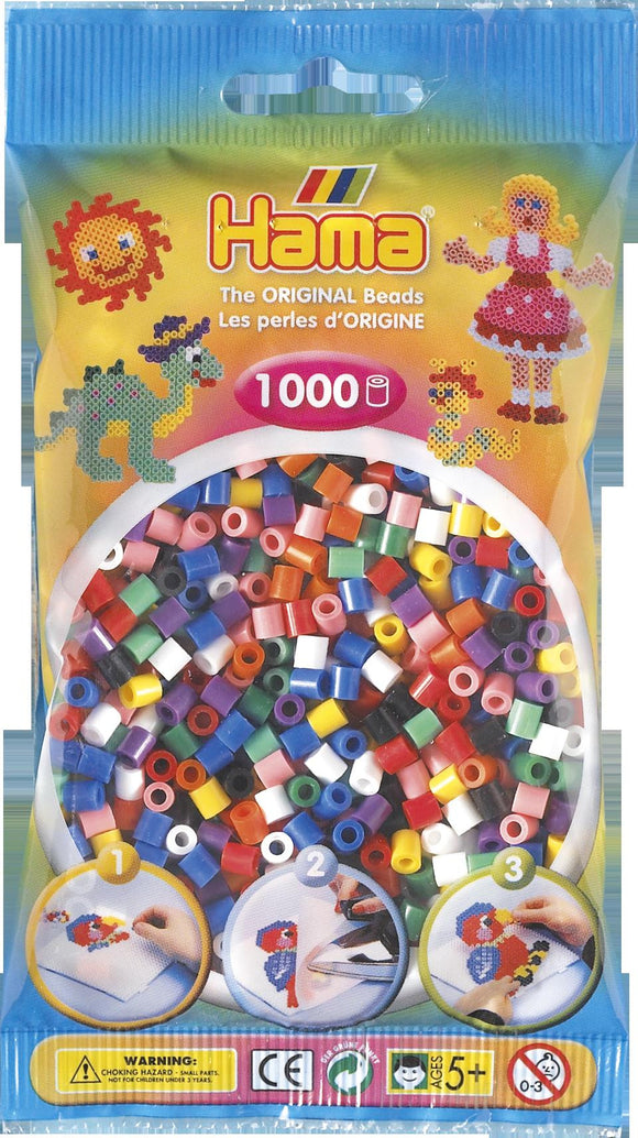 Solid Mix Hama Beads - 207-00 - 1000 Per Bag (Approx)