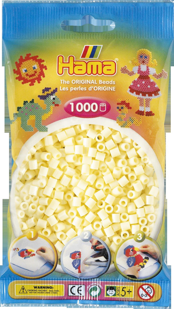 Cream Hama Beads - 207-02 - 1000 Per Bag (Approx)
