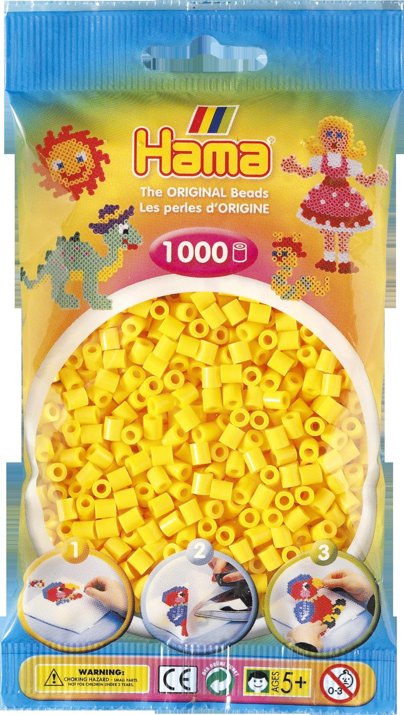 Yellow Hama Beads - 207-03 - 1000 Per Bag (Approx)