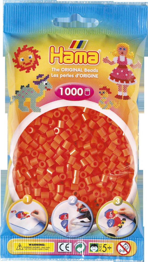 Orange Hama Beads - 207-04 - 1000 Per Bag (Approx)