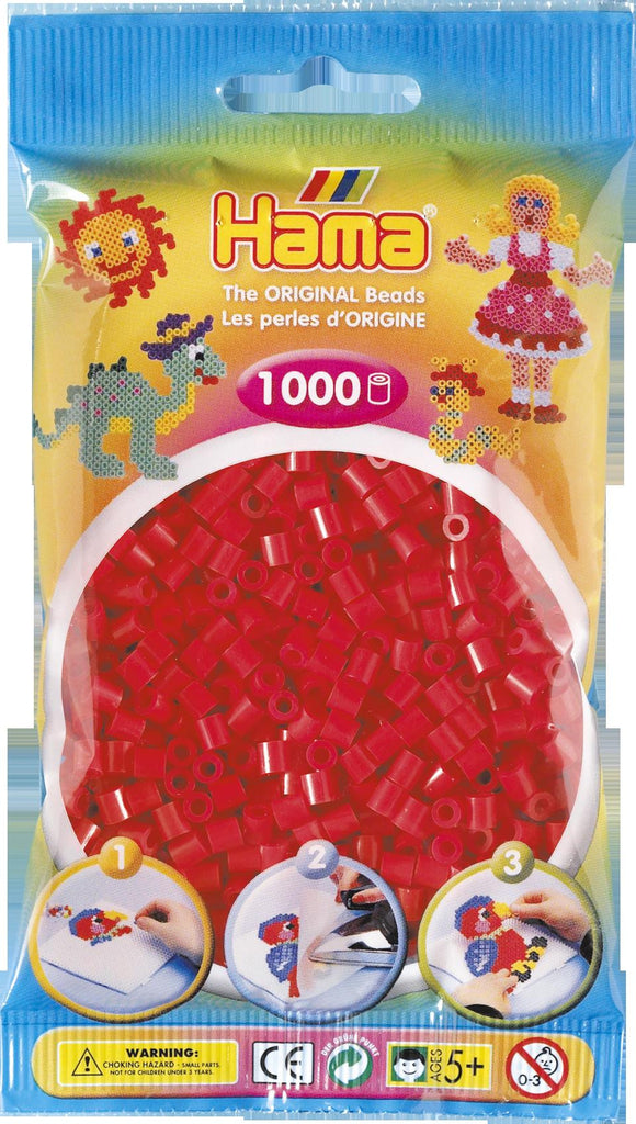 Red Hama Beads - 207-05 - 1000 Per Bag (Approx)