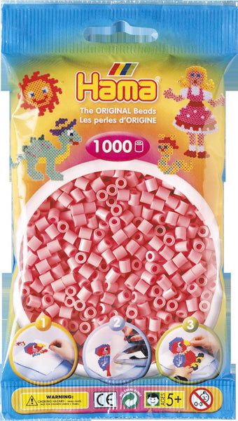 Pink Hama Beads - 207-06 - 1000 Per Bag (Approx)