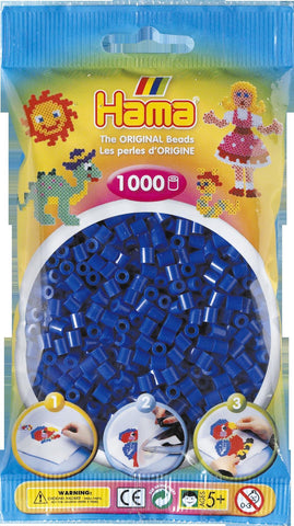 Blue Hama Beads - 207-08 - 1000 Per Bag (Approx)