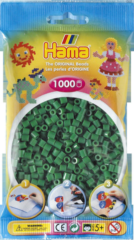 Green Hama Beads - 207-10 - 1000 Per Bag (Approx)