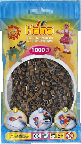 Brown Hama Beads - 207-12 - 1000 Per Bag (Approx)