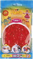 Translucent Red Hama Beads - 207-13 - 1000 Per Bag (Approx)