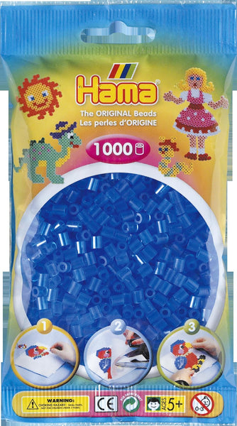 Translucent Blue Hama Beads - 207-15 - 1000 Per Bag (Approx)