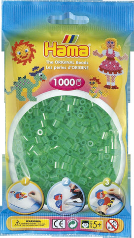 Translucent Green Hama Beads - 207-16 - 1000 Per Bag (Approx)