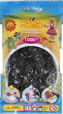 Black Hama Beads - 207-18 - 1000 Pe r Bag (Approx)