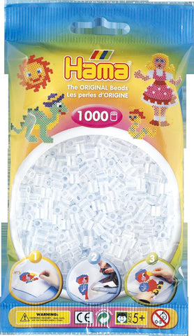 Clear Hama Beads - 207-19 - 1000 Per Bag (Approx)