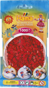 Dark Red Hama Beads - 207-22 - 1000 Per Bag (Approx)