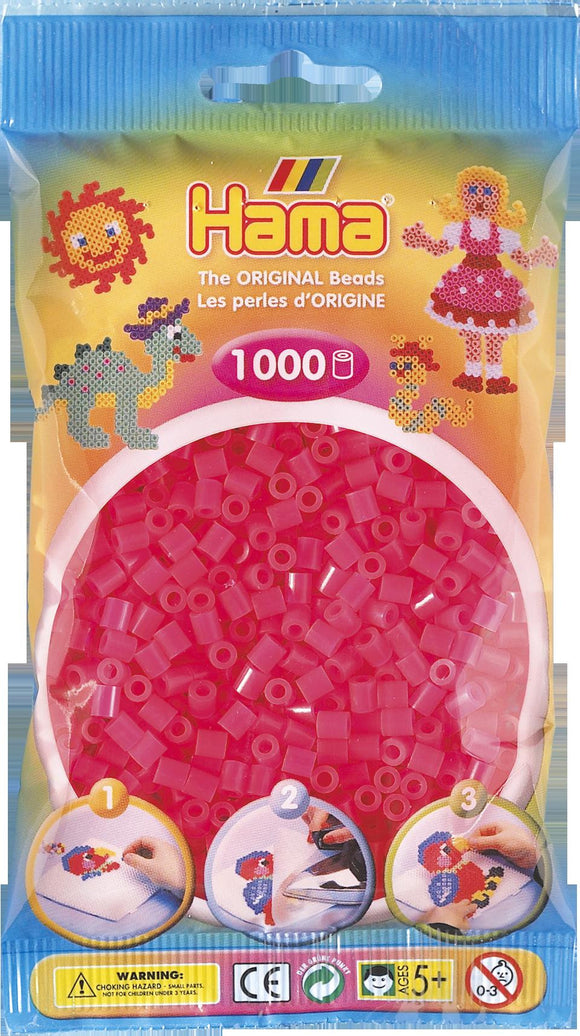 Neon Fuchsia Hama Beads - 207-32 - 1000 Per Bag (Approx)