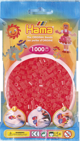 Neon Red Hama Beads - 207-35 - 1000 Per Bag (Approx)