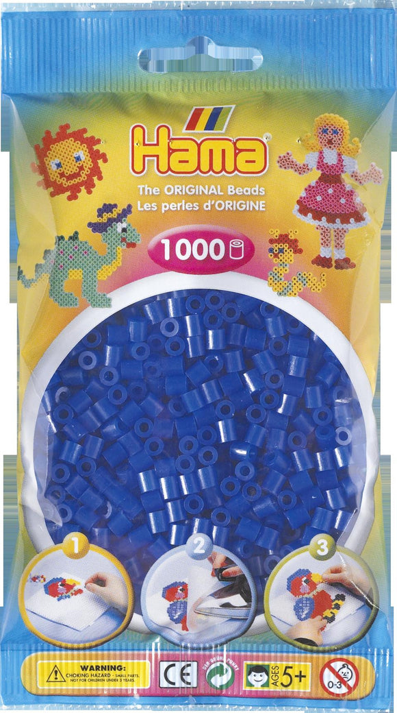 Neon Blue Hama Beads - 207-36 - 1000 Per Bag (Approx)