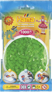 Neon Green Hama Beads - 207-37 - 1000 Per Bag (Approx)