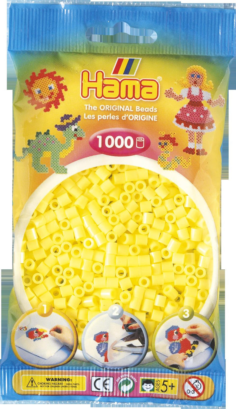 Pastel Yellow Hama Beads - 207-43 - 1000 Per Bag (Approx)