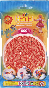 Pastel Red Hama Beads - 207-44 - 1000 Per Bag (Approx)