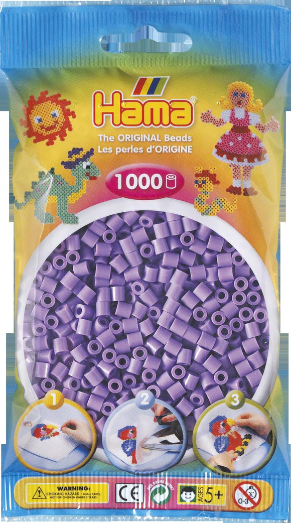 Pastel Purple Hama Beads - 207-45 - 1000 Per Bag (Approx)