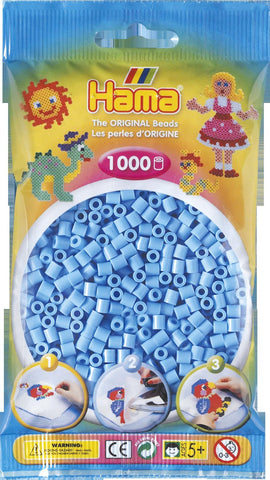 Pastel Blue Hama Beads - 207-46 - 1000 Per Bag (Approx)