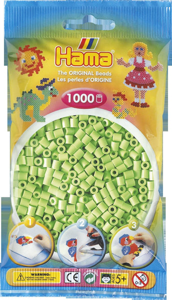 Pastel Green Hama Beads - 207-47 - 1000 Per Bag (Approx)