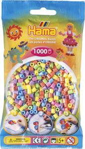 Pastel Mix Hama Beads - 207-50 - 1000 Per Bag (Approx)