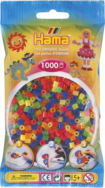 Neon Mix Hama Beads - 207-51 - 1000 Per Bag (Approx)