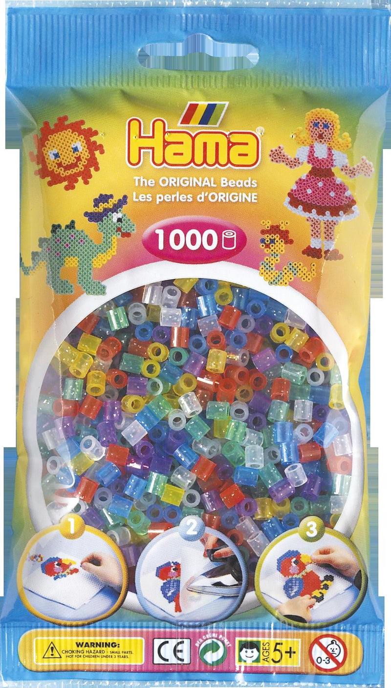 Glitter Mix Hama Beads - 207-54 - 1000 Per Bag (Approx)