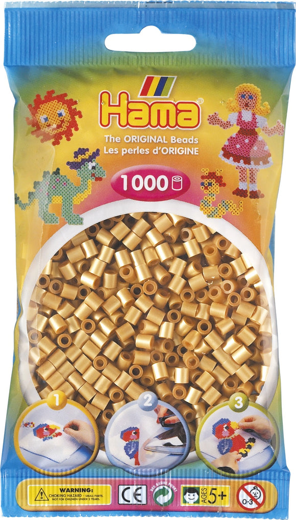Gold Hama Beads - 207-61 - 1000 Per Bag (Approx)