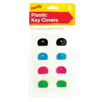 8 Plastic key covers caps - for easy key identification - Things4craft.co.uk