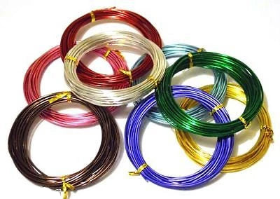 Aluminum Wire - 2mm in diameter 6m roll Choose your colour - Things4craft.co.uk