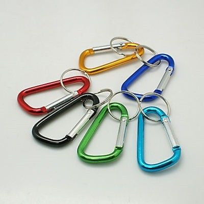 Carabiner 60mm Aluminium Karabiner Key Ring Hook Clip - - Things4craft.co.uk