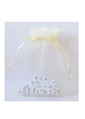 Lovely Ivory Organza Bags available in 3 sizes Wedding Favour Bag Gift Lot - Things4craft.co.uk - 1