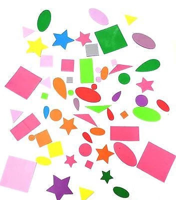 Craft Self Adhesive Shapes - Stick Shapes Mixed colour shape and size - Things4craft.co.uk - 1