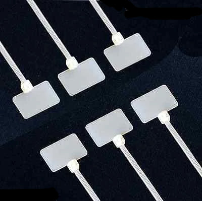 Cable Ties Labels - 200mm x 2.5mm White RJ45 RJ12 Wire Power Tags Marks - Things4craft.co.uk