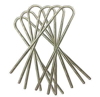 Artificial Grass U Pins Galvanised Metal Steel Pegs Mesh Net Staples upins - Things4craft.co.uk - 1