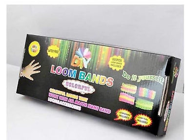 COMPLETE KITS OF 600 RUBBER LOOM BANDS BRACELET MAKING WHOLESALE BULK JOB LOT - Things4craft.co.uk - 1