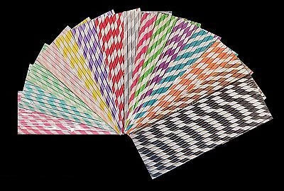 25 STRIPE POLKA HEART RETRO VINTAGE PARTY DRINKING PAPER STRAWS BIRTHDAY WEDDING - Things4craft.co.uk - 2