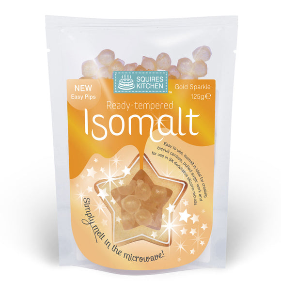 Squires Kitchen Ready Tempered Isomalt - 125g - Gold Sparkle