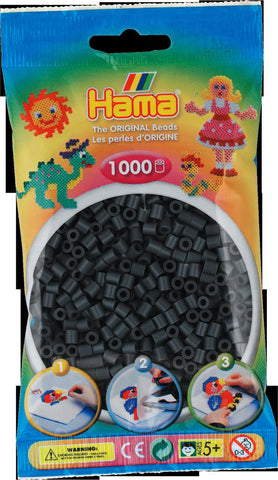 Dark Grey Hama Beads - 207-71 - 1000 Per Bag (Approx)