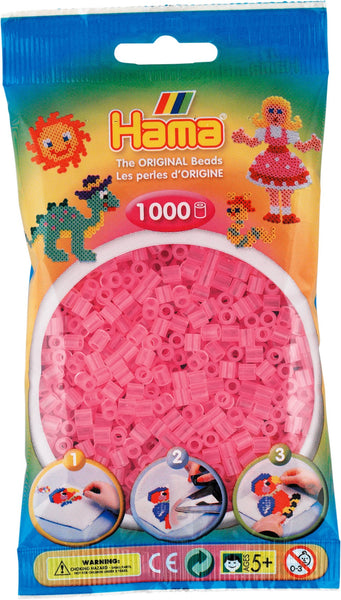 Translucent Pink Hama Beads - 207-72 - 1000 Per Bag (Approx)