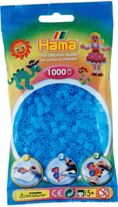 Translucent Aqua Hama Beads - 207-73 - 1000 Per Bag (Approx)