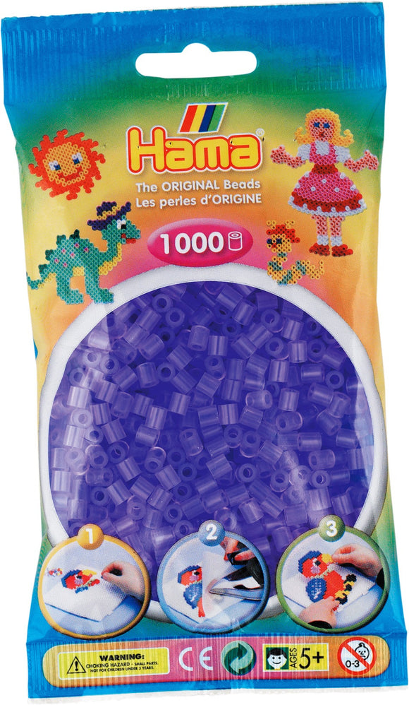 Translucent Lilac Hama Beads - 207-74 - 1000 Per Bag (Approx)