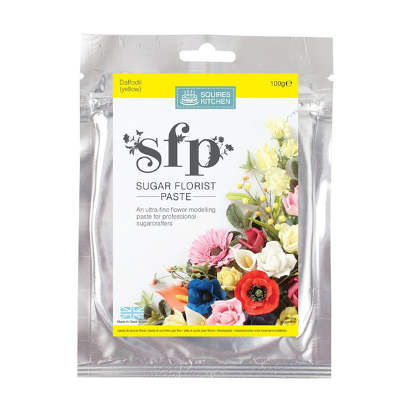 Squires Kitchen Sugar Florist Paste SFP Gum Paste modelling paste Daffodil (Yellow)