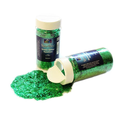 Giltter Sparkles - Green - Large Pot - 150g