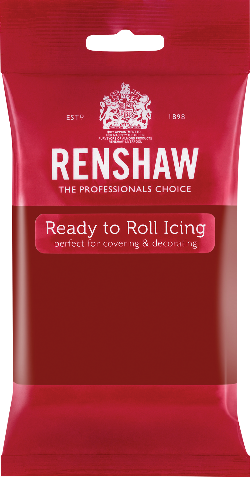Renshaw · Ready To Roll · Icing · 250g<br><b><i>Ruby Red</i></b>