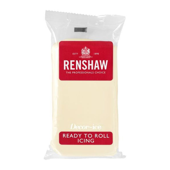 Renshaw · Ready To Roll · Icing · 250g<br><b><i>White Chocolate</i></b>