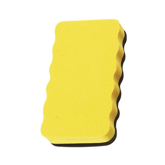Magnetic Board Rubber Whiteboard cleaner dry eraser Yellow  Magnetic Board Rubber - Pack of 2