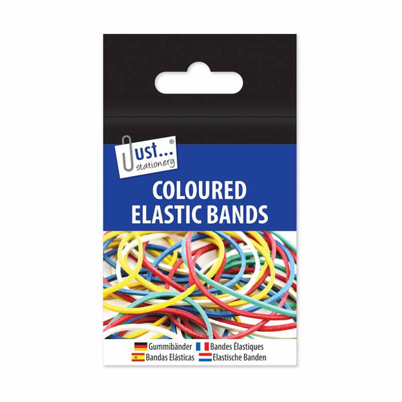 Coloured Elastic Bands - 30g Pack