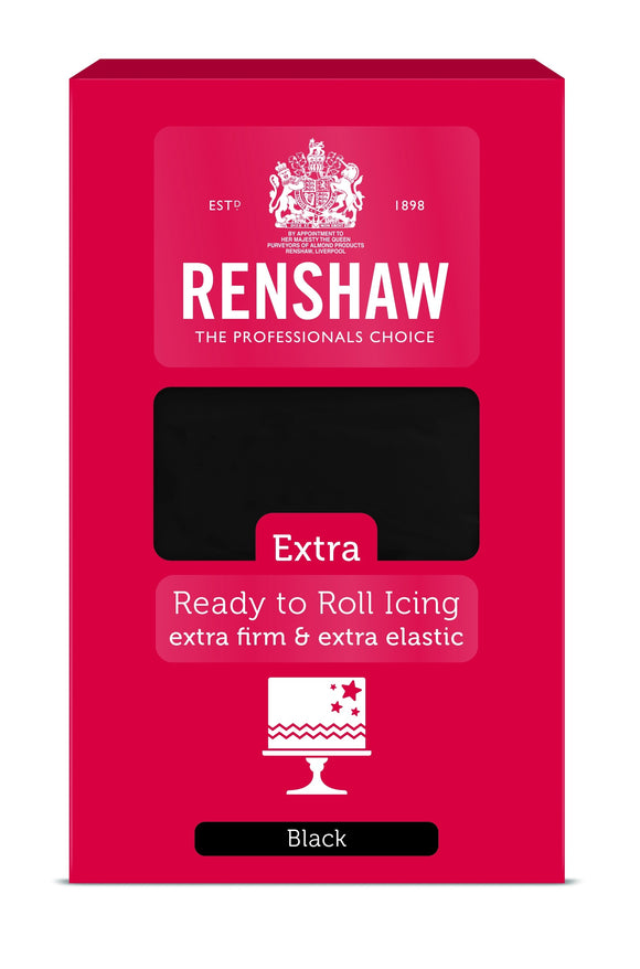 Renshaw Extra Black Ready to roll sugarpaste icing