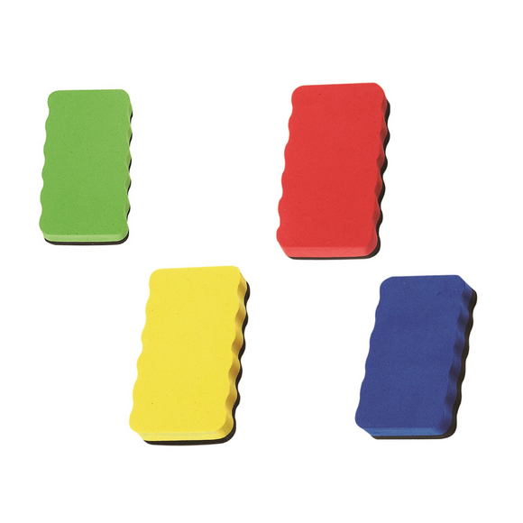 Magnetic Board Rubber Whiteboard cleaner dry eraser Mixed Colours Magnetic Board Rubber - Pack of 10